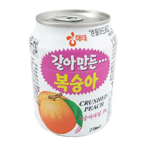 韩国海太桃果肉果汁238ml