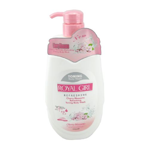 英国royal girl皇家女孩牛奶樱花美白润肤沐浴露950ml