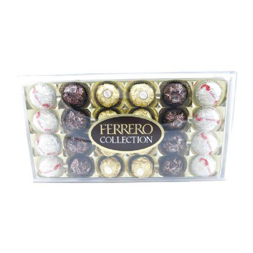 费列罗金莎进口巧克力高档臻品礼盒装三色T24粒