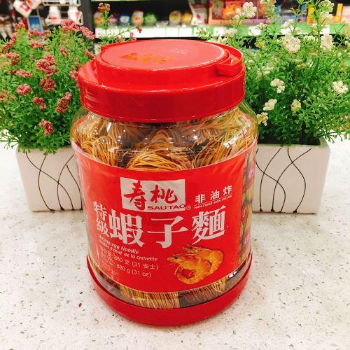 香港寿桃牌特级虾子面880g(桶装)