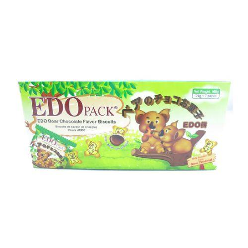 EDO熊仔巧克力味罐心饼干