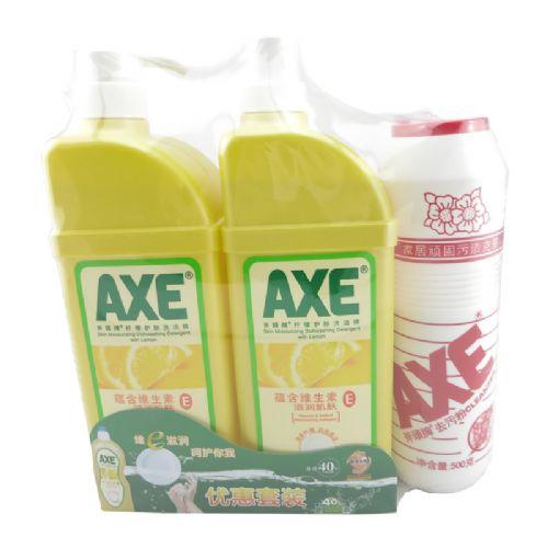 1300g×2AXE斧头牌洗洁精柠檬味【泵+补】套装