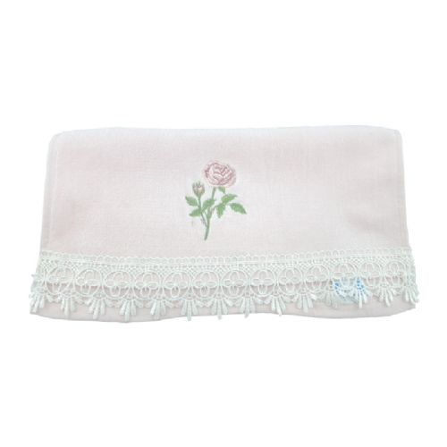 艾菲绣花花边方巾34cm×33cm