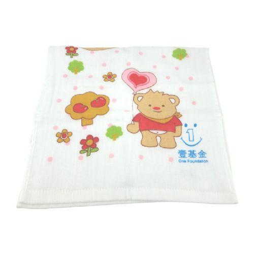 恒立双层无捻印花童巾26cm×50cm
