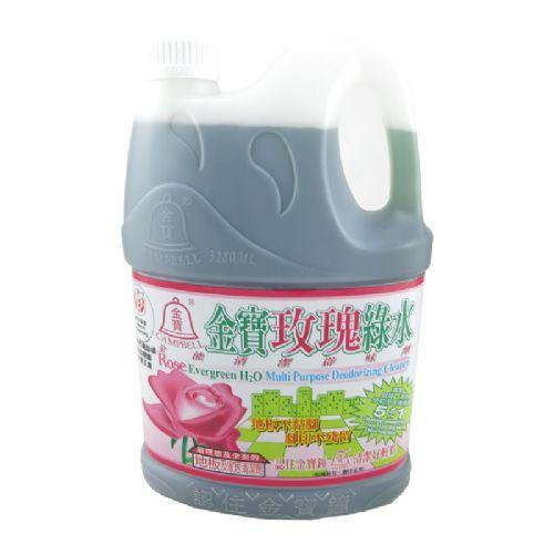 金宝玫瑰绿水 全能清洁消毒剂 地板家居清洁剂3180ml
