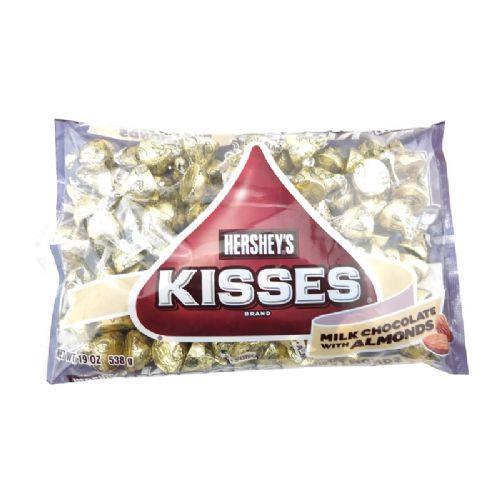 美国进口好时KISSES杏仁牛奶巧克力538克