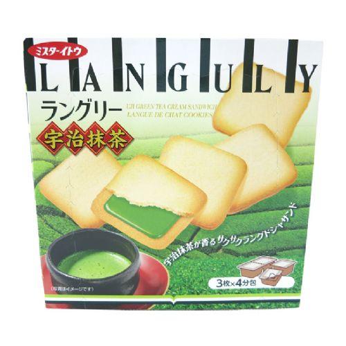 依度三文治夹心饼干12枚138g(宇治�{茶味)
