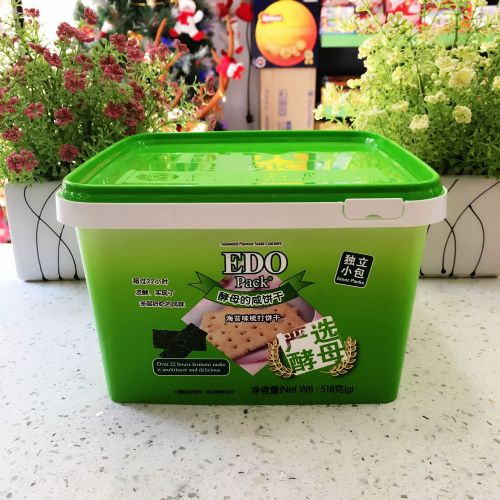EDO Pack 海苔味梳打饼干518g