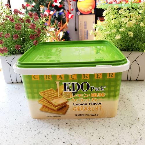 EDO Pack柠檬风味夹心饼干600g