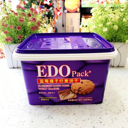 EDO Pack 蓝莓提子纤麦饼干600g