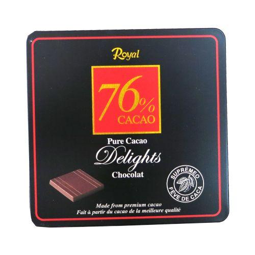 韩国Royal牌76%原味朱古力90g(铁盒)