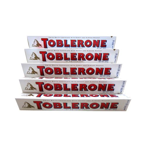 Toblerone瑞士三角白巧克力含蜂蜜奶油杏仁100g