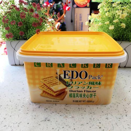 EDO Pack 榴莲风味夹心饼干600g