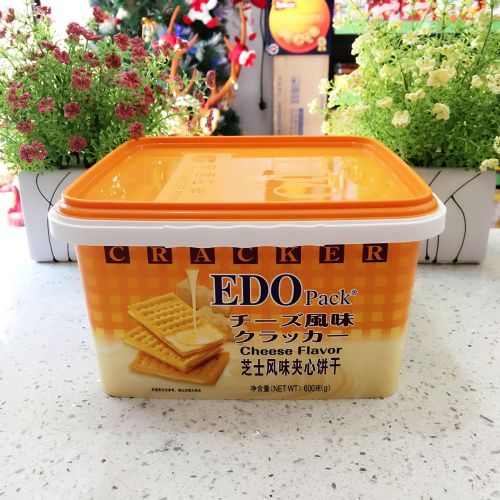 EDO Pack 芝士风味夹心饼干600g