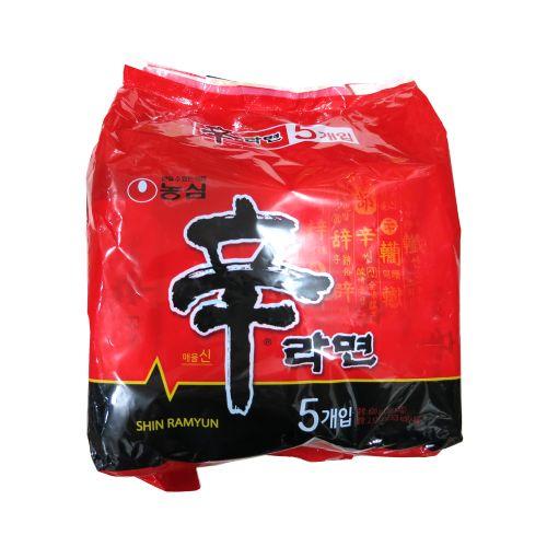 韩国农心辛拉面120g×5