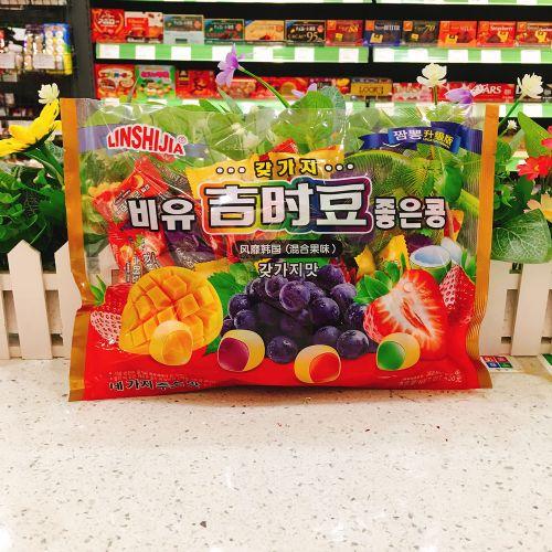 438g韩国进口林食佳夹心软糖吉时豆(什果味)