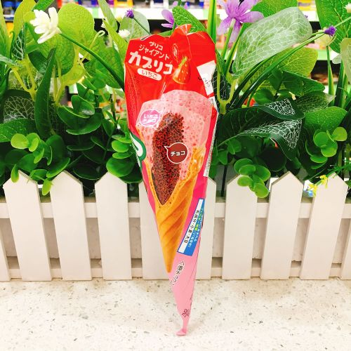 固力果Caplico草莓朱古力甜筒1本(支�b)
