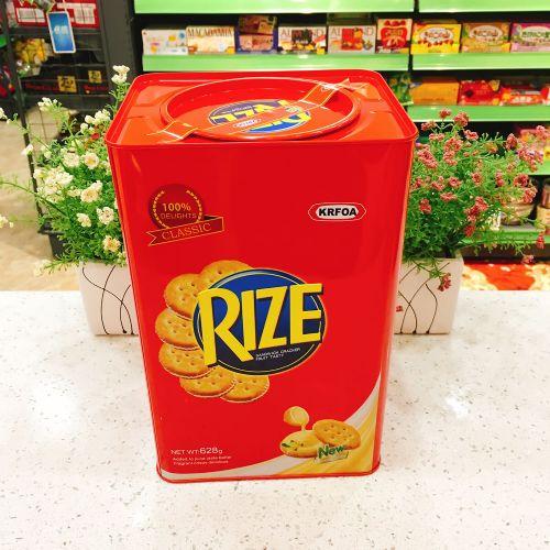 马来西亚KRFOA RIZE香草柠檬夹心饼干628g(铁罐礼盒)