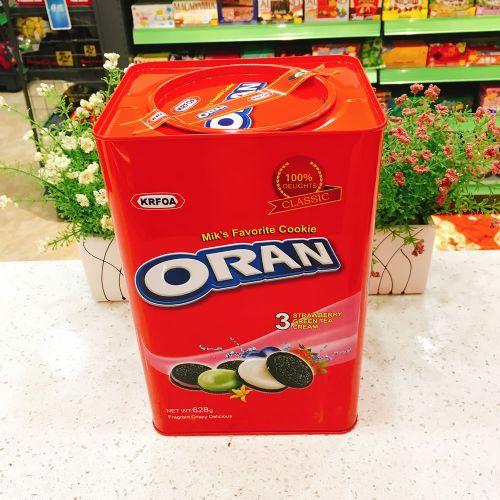 马来西亚KRFOA ORAN巧克力奶油夹心饼干628g(铁罐礼盒)