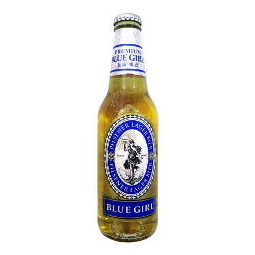韩国玻璃瓶装蓝妹啤酒330ml