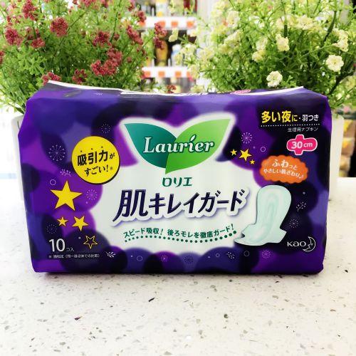 花王乐而雅夜用护翼型卫生巾30cm×10片