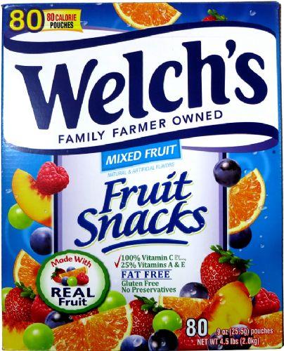 Welch's纯天然果汁维生素软糖2kg(90小包)