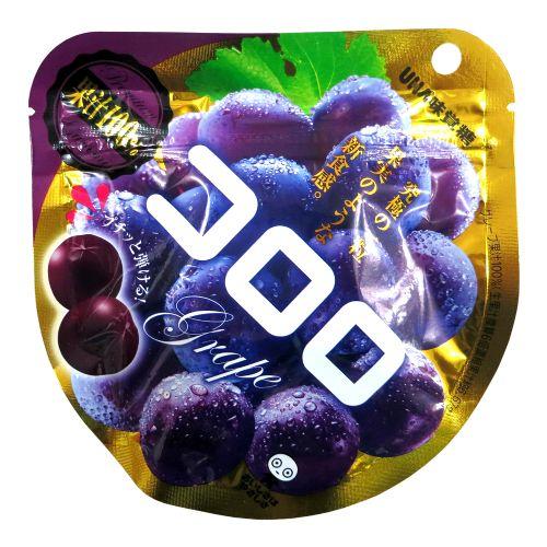 日本UHA味觉糖100%究极葡萄软糖QQ糖40g