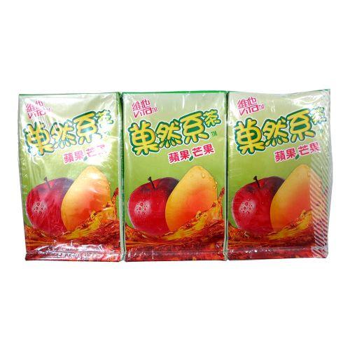 维他�然系苹果芒果茶饮品250ml×6盒