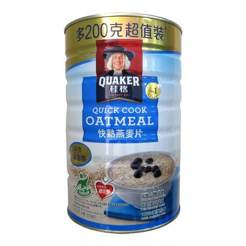 桂格快熟燕麦片1000g(铁罐装)
