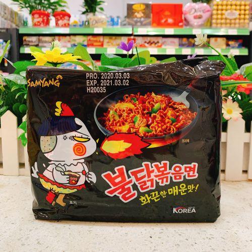 韩国三养火鸡面炒面速食泡辣味140g×5包