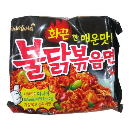 韩国三养火鸡面炒面速食泡辣味140g
