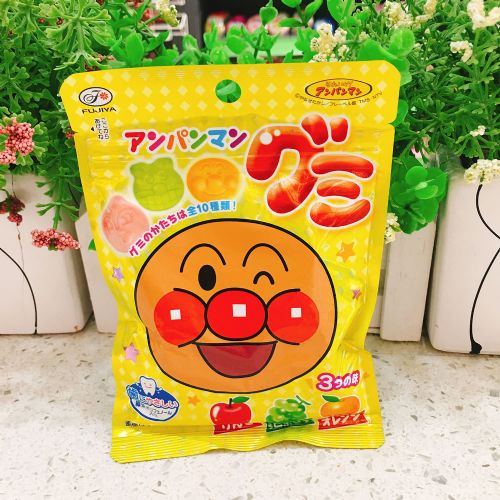 日本不二家面包超人QQ糖水果味软糖50g