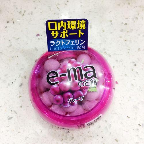 日本味觉e-ma葡萄润喉糖33g