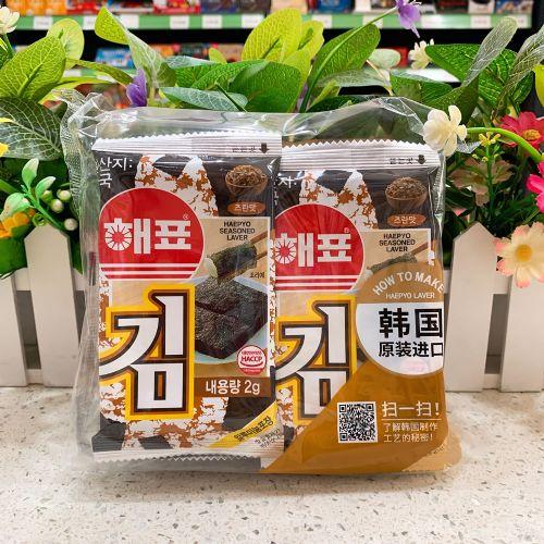 10包装韩国海牌/海飘/绿子海苔紫菜番茄味