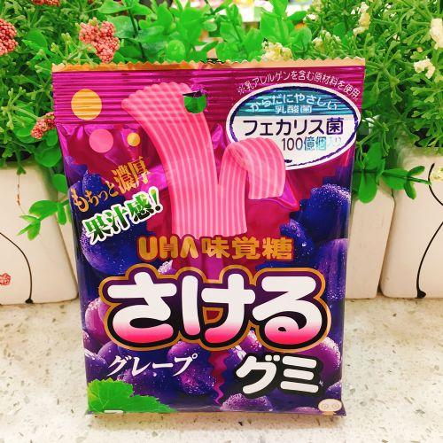 日本UHA味觉糖宽条软糖黑加仑味32.9g
