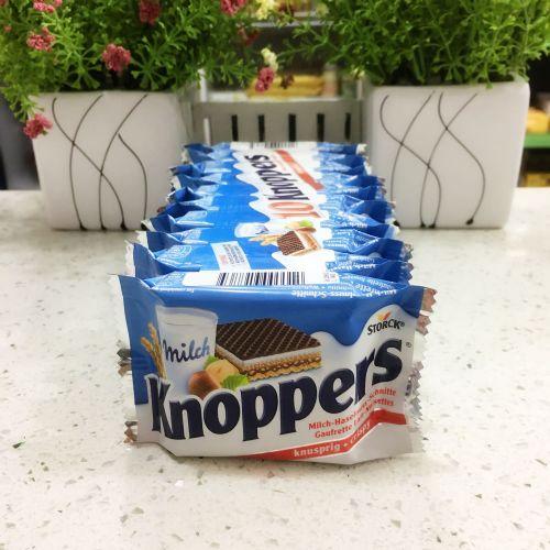 德国Knoppers牛奶榛子巧克力威化饼干(10包)