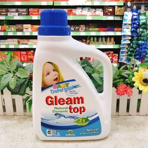 GLEAM TOP闪逸纯天然抗菌除螨D08婴儿洗衣液3L