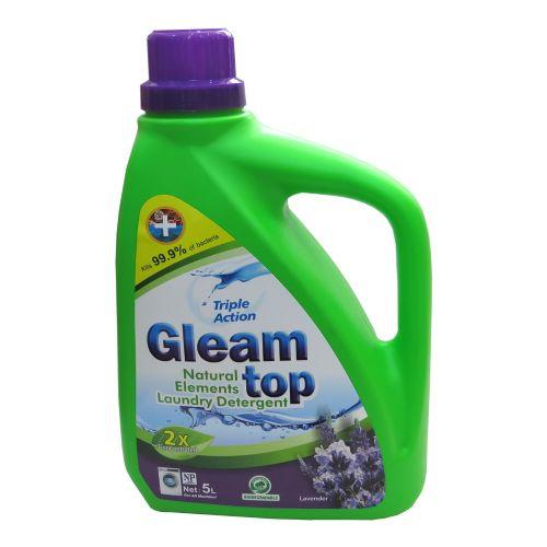 GLEAM TOP 闪逸双倍浓缩天然生态洗衣液D06薰衣草味5L