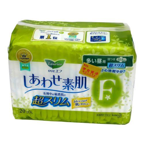 日本乐而雅F透气棉柔超丝薄卫生巾量多日用护翼20片22.5CM