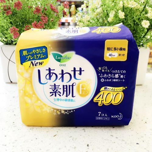 日本花王乐而雅卫生巾7/片超安心F系列夜用40cm