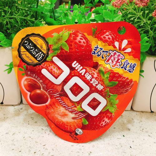 日本UHA味觉糖100%究极草莓软糖QQ糖40g