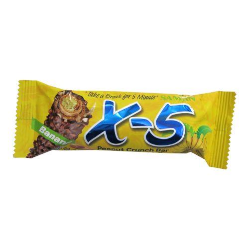 宝瑞淇X-5花生夹心巧克力棒(香蕉味)36g