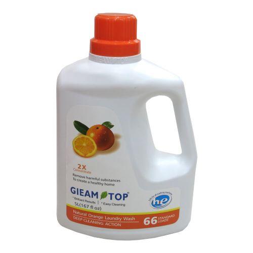 GLEAM TOP 闪逸Q31天然高效洗衣液(2倍浓缩)柑橘果香味5L