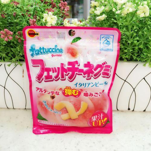 日本布尔本/Bourbon 百邦水果软糖水蜜桃味橡皮条糖50g