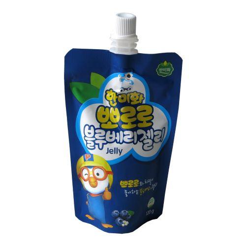 韩国韩美禾啵乐乐蓝莓味果冻120g