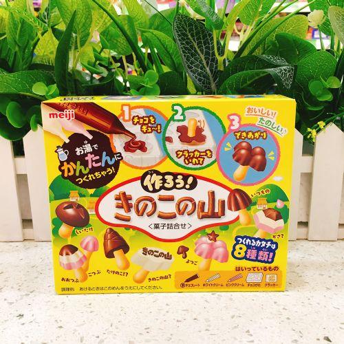 日本meiji明治 DIY手作阿波罗草菇造型巧克力饼干36g