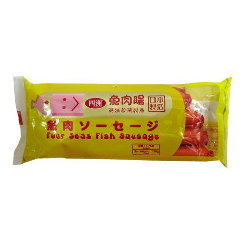 日本四洲鱼肠原味高级鱼肉肠8条装220g