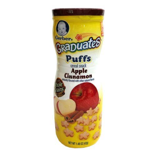 美国嘉宝Gerber GraDuates Puffs 纪念版泡芙42g 苹果肉桂味