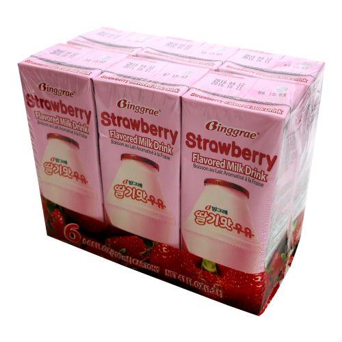 宾格草莓牛奶(6支装)