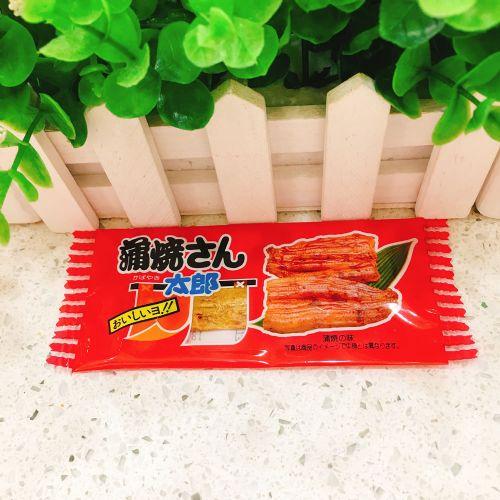日本海味零食 �道太郎蒲烧鳗鱼肉干原味鳗鱼片9g